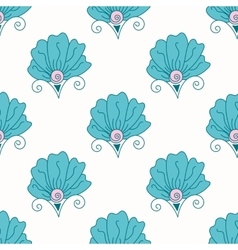 Seamless bright floral pattern vector