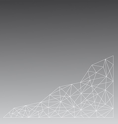 Black and white line polygon on bottom vector