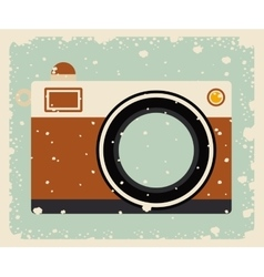 Retro camera posterisolated icon design vector