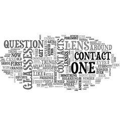 A list of contact lens benefits text word cloud vector