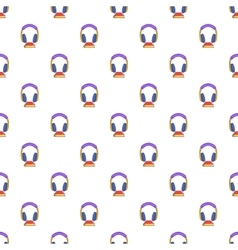 Audio book pattern cartoon style vector