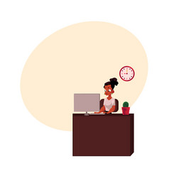 Black african american businesswoman secretary vector