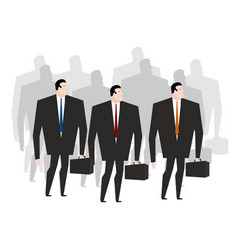Business team crowd managers many businessmen vector
