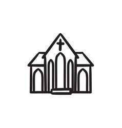 Church sketch icon vector