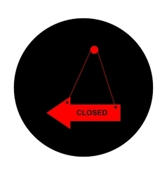 Closed sign red icon vector