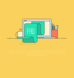 concept faq for website list jumps vector image vector image
