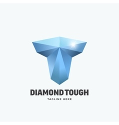 Diamond Tough Letter T Abstract Emblem vector image