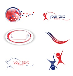 different design set of icons and symbols vector image vector image