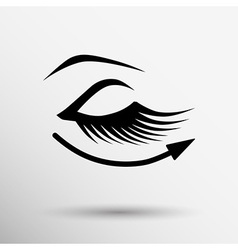 Eyelashes eye icon clip isolated human soft vector