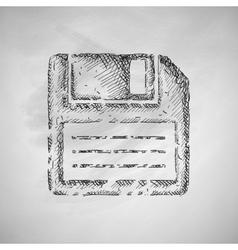 Floppy icon vector