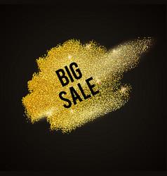 gold-brush-black vector image