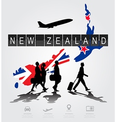 Infographic silhouette people in the airport vector
