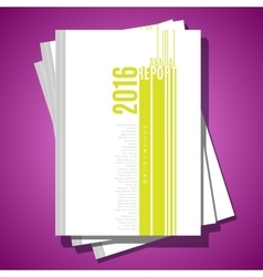 Modern abstract brochure cover template vector image vector image