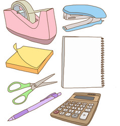 Office Equipments vector image