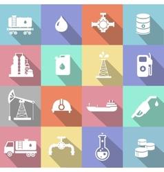 Oil industry petrol gasoline processing symbols vector