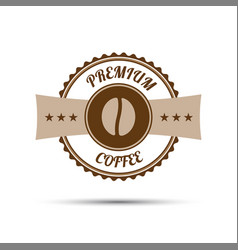 premium coffee sticker vector image vector image
