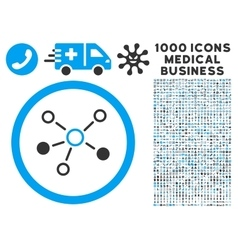 Relations Icon with 1000 Medical Business Symbols vector image vector image