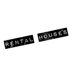 rental houses rubber stamp vector image vector image