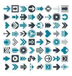 set of different arrows and cursors vector image vector image