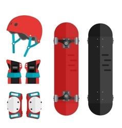 set of roller skating and skateboarding vector image
