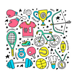 Sport clipart elements vector