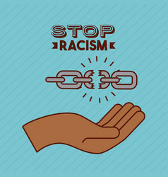 stop racism image vector image
