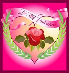 valentine rose vector image vector image