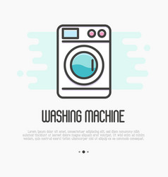 Washing machine thin line icon vector