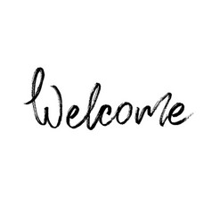 welcome modern brush calligraphy vector image vector image