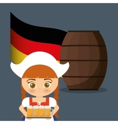 Premium quality german beer vector