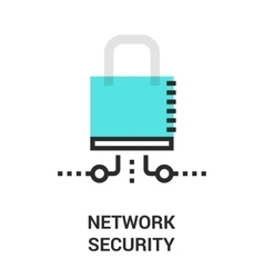 newtwork security icon vector image