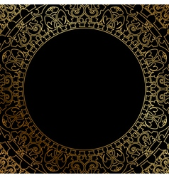 oriental ornament on black background vector image
