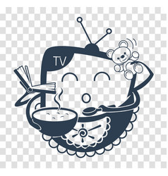 Concept of child television black vector