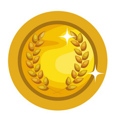 medallion with wreath award vector image