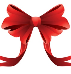 Holiday red bow2 vector