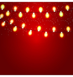 Christmas and new year background with luminous vector
