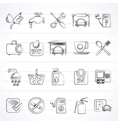 petrol station icons vector image
