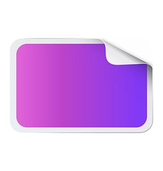 Square sticker on white vector