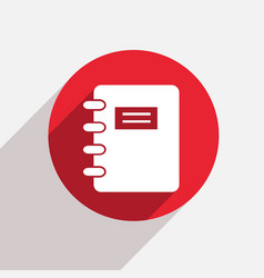 Modern document red circle icon vector