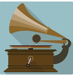 Retro vintage gramophone icon vector
