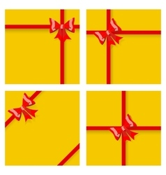Gift boxes with ribbons and bows vector