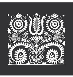 Floral folk ornament vector
