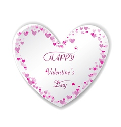 Romantic pink heart background frame vector