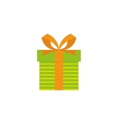 Cute present object vector