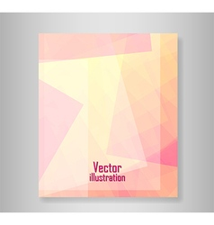 Book abstract pink with rectangle vector