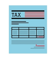 Tax receipt of payment icon vector