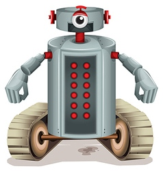 A robot with red buttons vector image vector image