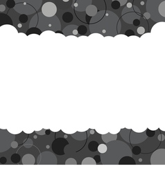 Black And White Graphic Background With Space vector image vector image