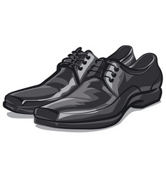 classic men shoes vector image vector image
