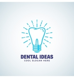 Dental Ideas Abstract Logo Template with vector image vector image